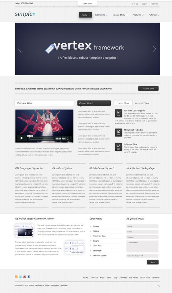 Shape5 Simplex Joomla 2.5 template