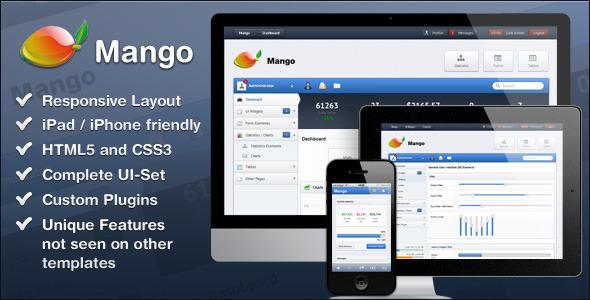 ThemeForest Mango – Slick & Responsive Admin Template