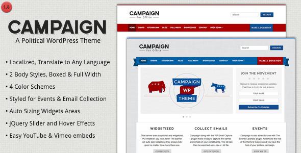 Campaign v1.8.1 – Political WordPress Theme