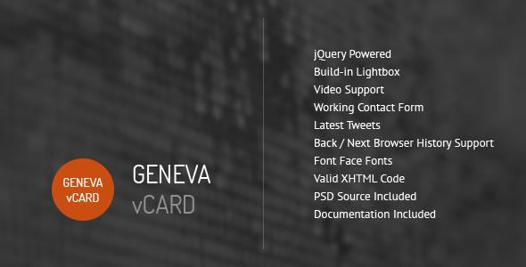 Geneva – Personal vCard Template v1.2