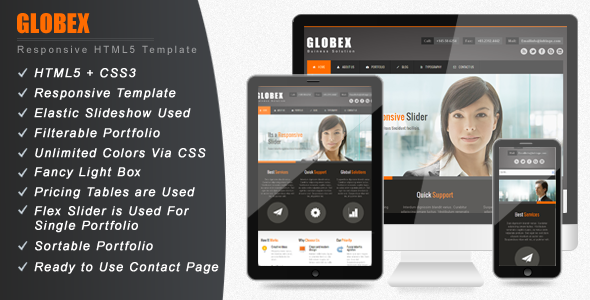 Globex – Responsive HTML Template