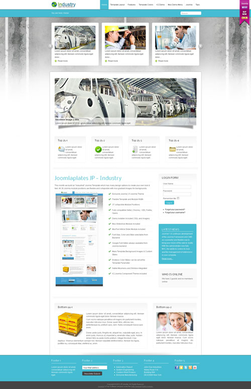 JP Industry for Joomla 2.5 template