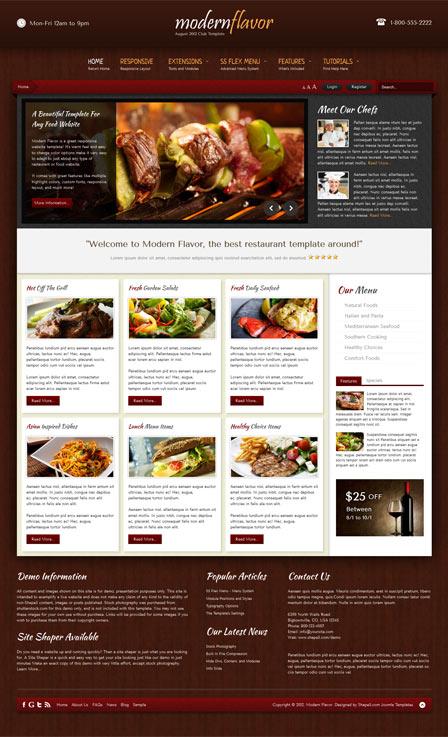 Shape5 Modern Flavor – August 2012 Joomla 2.5 Template