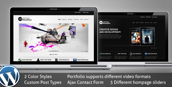 ThemeForest – Alabastros Studios v1.0 WordPress Version