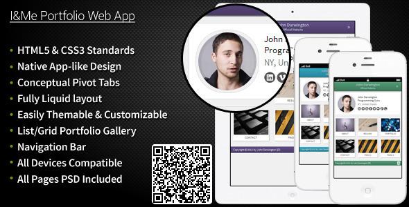 Themeforest – Mobile I&Me Portfolio Web App