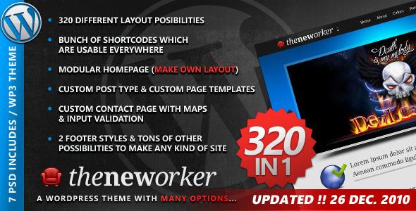ThemeForest – The Neworker – WordPress Premium theme 320 in 1