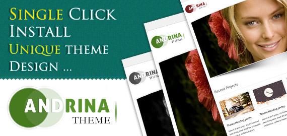 Andrina v.2.6 – Simple to Use, Single Click Install WordPress Theme