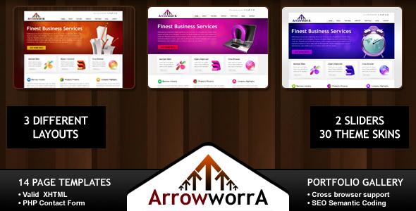 ArrowworrA – Business, Blog, Portfolio – 30 Themes (Full Pack)