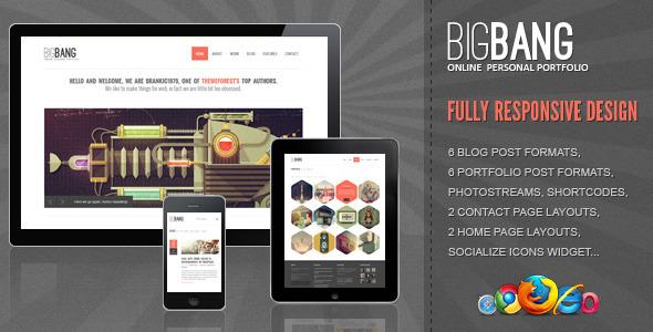 Bigbang – Responsive WordPress Template V1.3