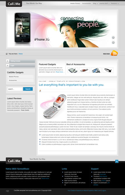BT Call2me template for Joomla 2.5