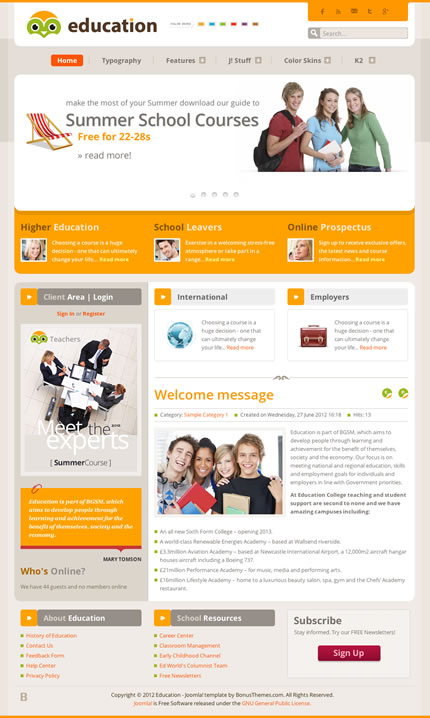 BT education academy Template for Joomla 2.5