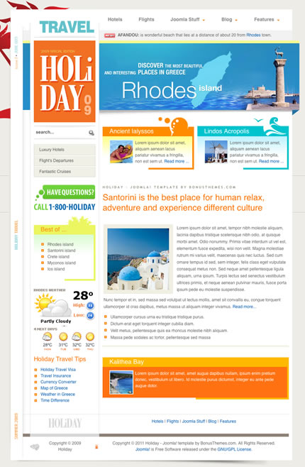 BT Holiday Template for Joomla 2.5