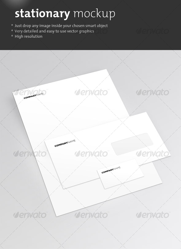 Clean Stationary Mockup – Graphicriver