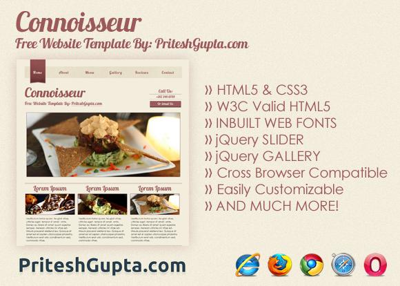 Connoisseur: Free Website Template