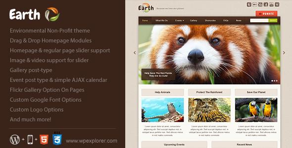 Earth – Eco/Environmental NonProfit WordPress Theme V1.7