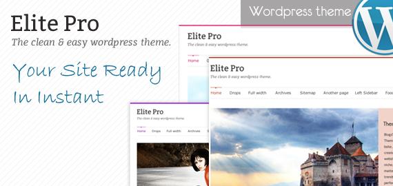 Elite Pro v2.1 Responsive WordPress Theme