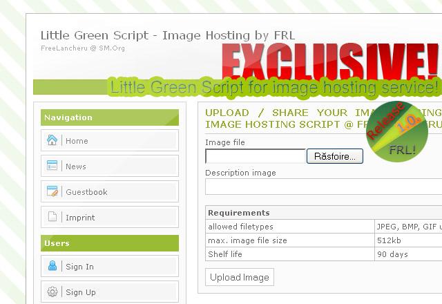 EXCLUSIVE!: Image Hosting – Little Green Script v1.0 last [FRL-Release]