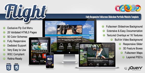 Flight – Responsive Fullscreen Background Template