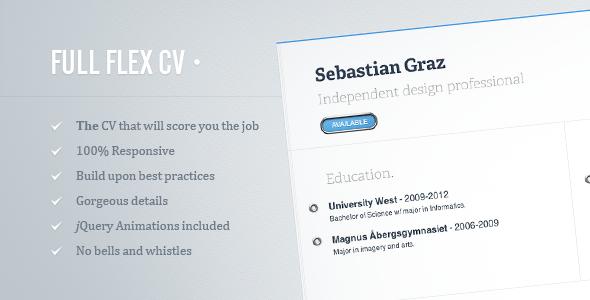 FULL FLEX CV – Fully Responsive HTML5 Resume