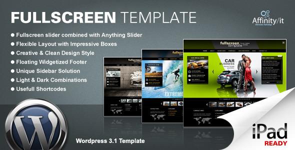 Fullscreen – Business & Portfolio WordPress Theme V2.11