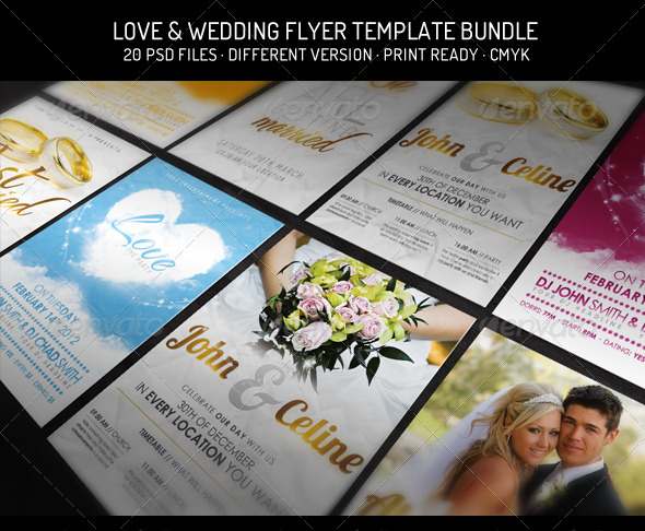 Graphicriver Bundle III – Love & Wedding Flyer Template