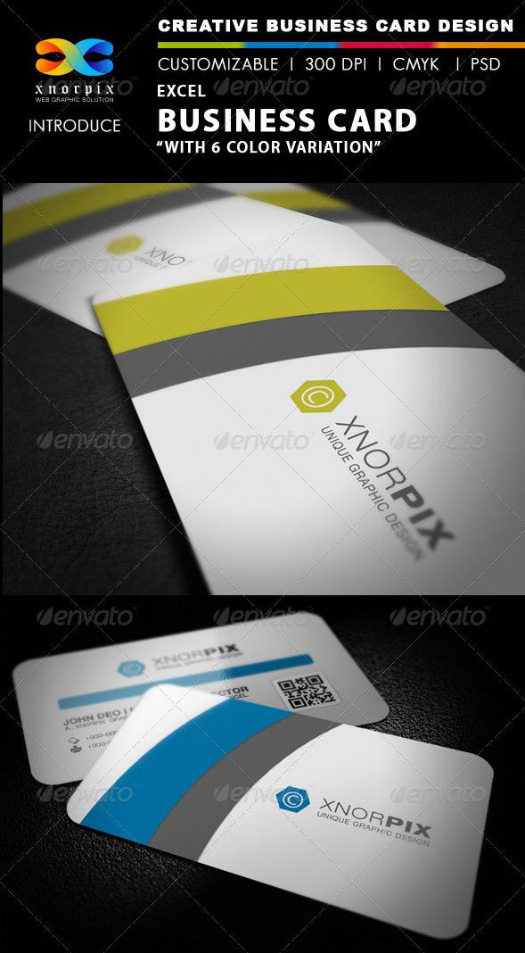 GraphicRiver Excel Business Card