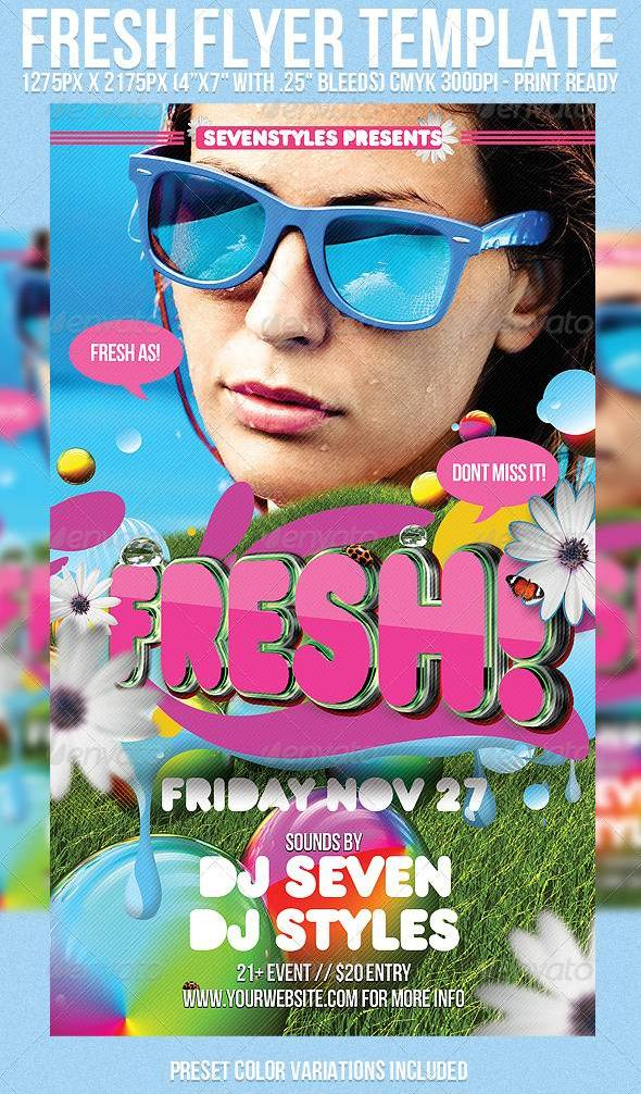 Graphicriver Fresh Flyer Template