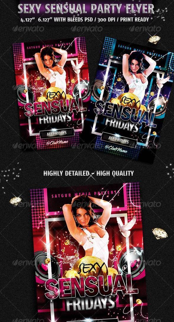 Graphicriver Sensual Music Dance DJ Night Party Flyer