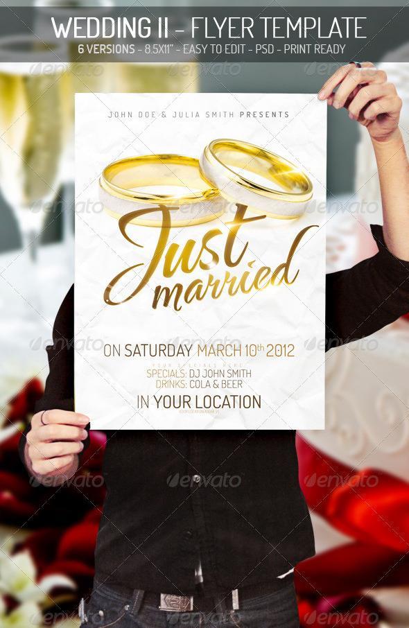 Graphicriver Wedding II – Flyer Template