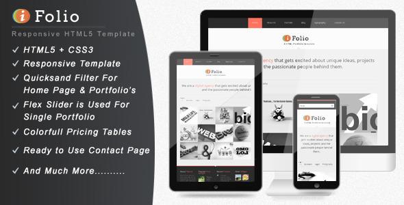 iFolio – Responsive HTML Portfolio Website Template
