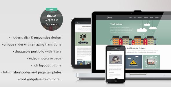 Ikaros – Responsive WordPress Business & Portfolio v1.2