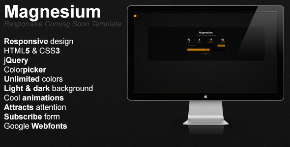 Magnesium – Responsive Coming Soon Template
