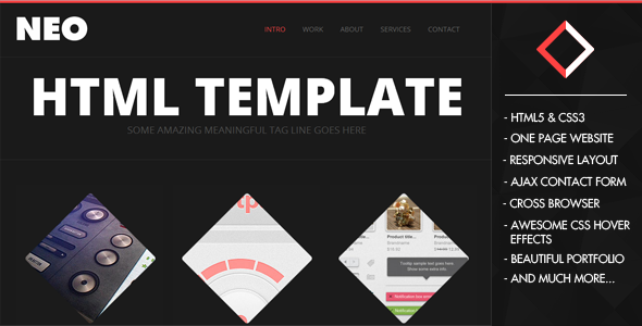 NeoFolio – One Page Responsive Creative Template