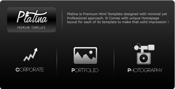 Platina-Corporate,Portfolio & Photography Template