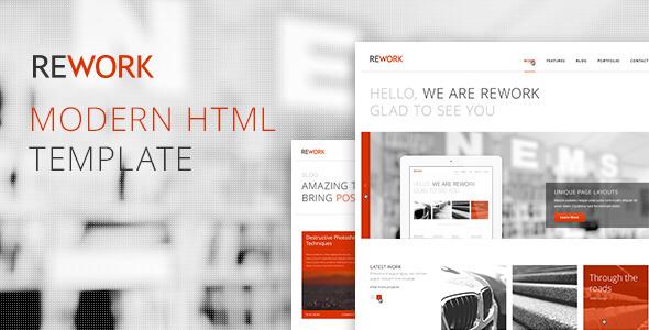 REWORK – Responsive HTML5/CSS3 Template