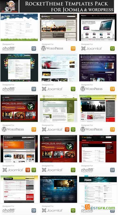 RocketTheme Templates (Joomla, phpbb, WordPress)