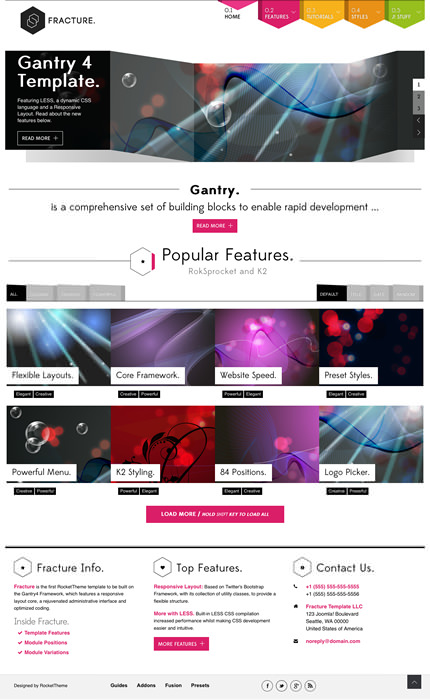 RT Fracture September 2012 Joomla 2.5 Template