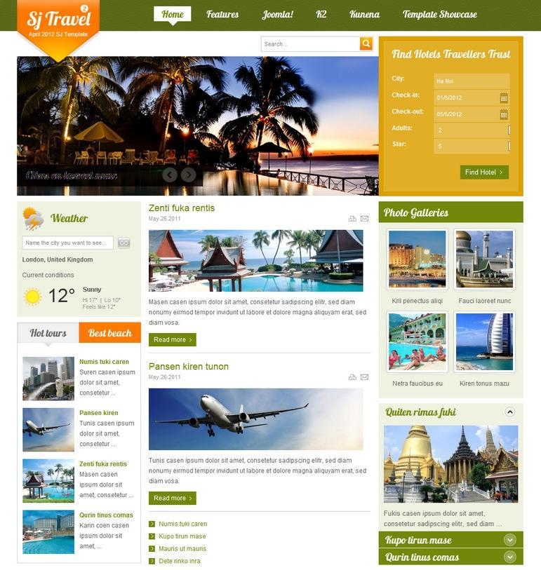 SJ Travel II Template for Joomla! 2.5