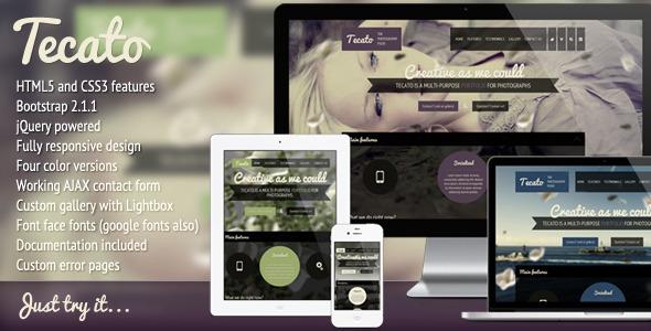 Tecato – Creative HTML5 one page portfolio