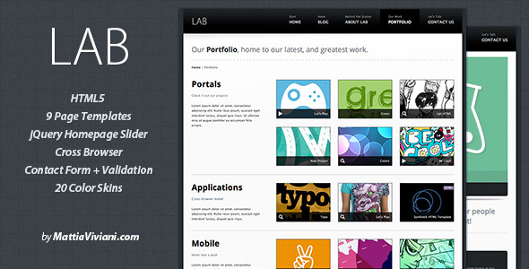 ThemeForest – Lab v.1.2 – HTML5 Template