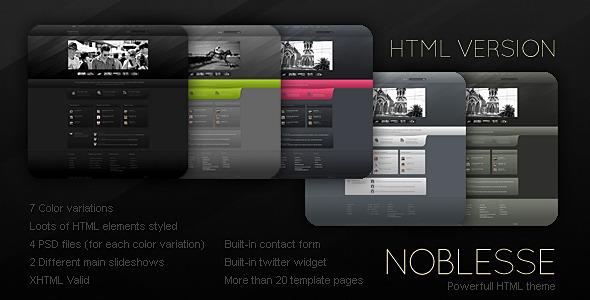 ThemeForest – Noblesse – HTML Versio