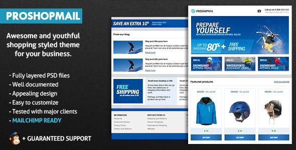Themeforest – ProShopMail E-Mail Template