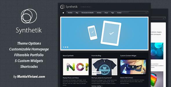 ThemeForest Synthetik WordPress Theme V2.8.1