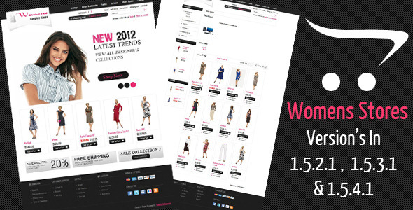ThemeForest – Womens Stores Opencart Theme for v1.5.2.1 / 1.5.3.1