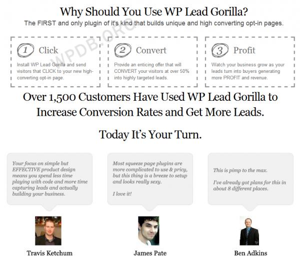 WP Lead Gorilla – WordPress Plugin V1.2