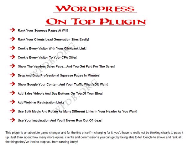 WSO – WordPress On Top Plugin