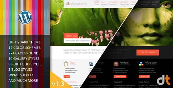 Duotive 2WO – All in One WordPress Theme v1.34