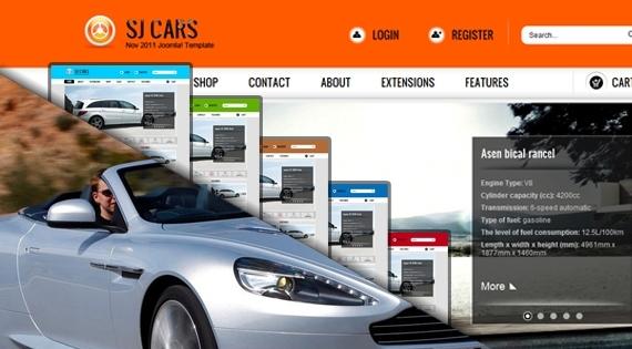 Sj Cars Template v1.2 for Joomla! 2.5