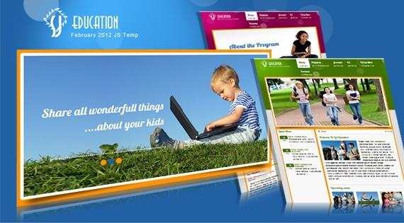 SJ Education academy Joomla! 2.5 Template
