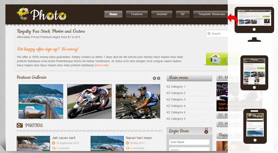 SJ Ephoto Responsive – Joomla 2.5 Template